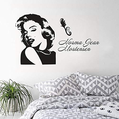 Marilyn Monroe Portrait Wandaufkleber Mädchen Zimmer Wand Poster Wohnkultur Berühmte Marilyn Monroe Vinyl Wandtattoo Wandkunst