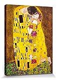 1art1® Gustav Klimt - El Beso, 1908 Cuadro, Lienzo Montado Sobre Bastidor (80 x 60cm)