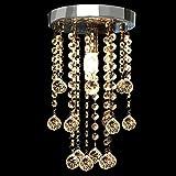 CCLIFE LED Deckenlampe Kristall Deckenleuchte Hängelampe Glaskugeln Ø20cm Lüster für Wohnzimmer Schlafzimmer Küche Restaurant usw. 1 x E14 Sockel, Max 40W