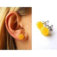Wunderschöne Ohrringe, Ohrstecker, Amber studs, Silber 925, NEU - UNIKAT -
