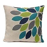 Blumen Gras Muster Kissen Sofa Taille Wurf Kissenbezug Home Decor (1)