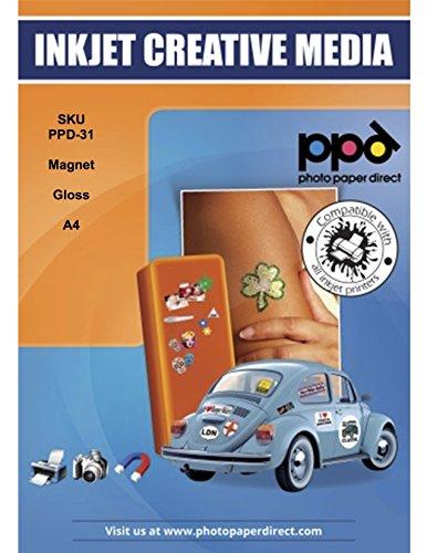 PPD Inkjet Magnetisches Glanz Fotopapier DIN A4, 5 Blatt