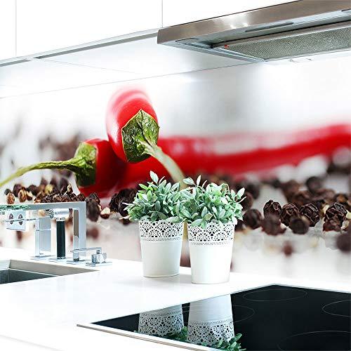 Küchenrückwand Chilli Pfeffer Premium Hart-PVC 0,4 mm selbstklebend 400x60cm