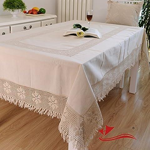FADFAY Home Textile,Brand Cotton Linen Woven Lace Tablecloth,Fashion North European