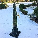 Antikas - Gartenbrunnen mit Wasserhahn - Nostalgie Zapfstelle Garten Brunnen Säulenbrunnen