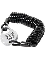 MSC Lock - Candado expansible con código de Seguridad para Ciclismo, Color Negro