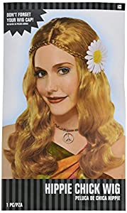 Adultos Amscan Internacionales del polluelo del Hippie peluca