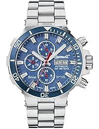 Ingersoll Bison No. 50automático para hombre reloj plata/azul in1314blmb