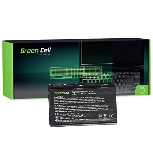 Green Cell Standard Serie GRAPE32 Laptop Akku für Acer Extensa 5100 5210 5220 5230 5230E 5320 5420 5610 5620 5620G 5620Z 5630 5630EZ 5630G 5630Z 7220 7620 (6 Zellen 4400mAh 11.1V Schwarz)