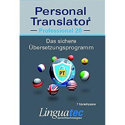 Personal Translator Professional 20: Preisgekröntes Übersetzungsprogramm mit 7 Sprachpaaren (Deutsch / Englisch / Französisch / Italienisch / ... English, Microsoft® Office Integration