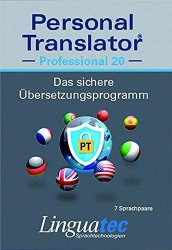 Personal Translator Professional 20: Preisgekröntes Übersetzungsprogramm mit 7 Sprachpaaren
