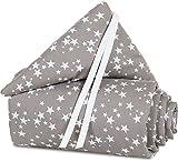 babybay Nestchen Piqué für Maxi, Boxspring und Comfort, taupe Sterne weiß