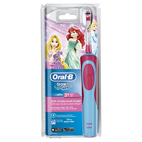 Oral-B Stages Power Kids Elektrische Kinderzahnbürste, im Disneys Prinzessinnen Design