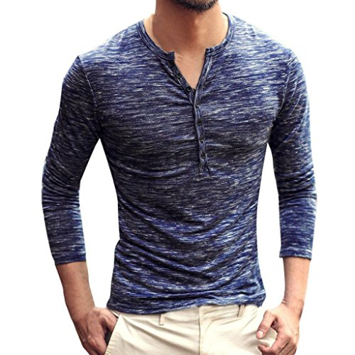 Toamen Camiseta De Manga Larga con Cuello De Hombre, Blusa De Manga Larga Casual De OtoñO