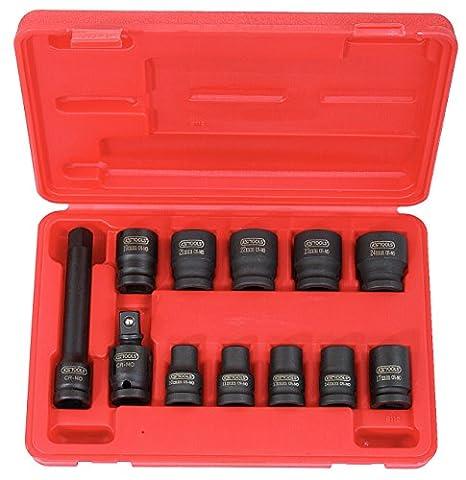 "KS Tools 515.0112 Jeu de douilles à choc 1/2"" 12 pièces"
