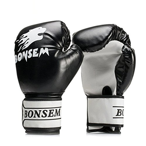 Nicololfle Boxhandschuhe Muay Thai Training Maya Fell Leder Sparring Boxsack Handschuhe Kickboxen Kampf