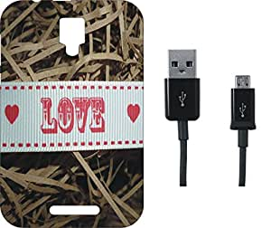 BKDT Marketing Beautifully printed Soft Back cover for Reliance Jio LYF Flame 5 With Charging Cable
