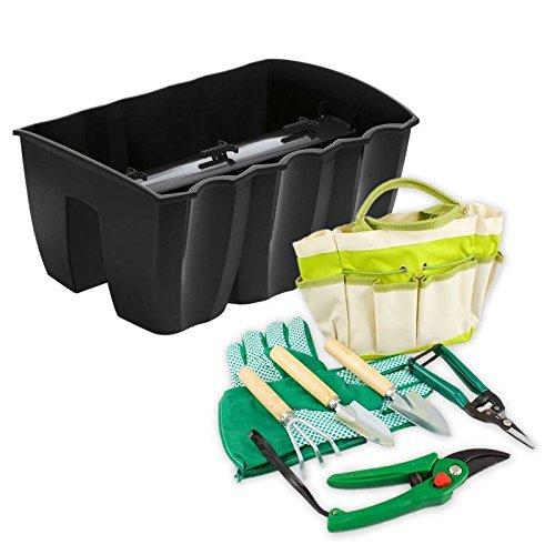Balkonkasten für Pflanzen / Garten Werkzeug Set mit Tasche Polyester / Metall / Holz 8-teilig