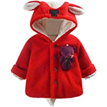 Manteau à capuche Bébé Fille Hiver Chaud Fourure Ultra Épais Longra  Oreilles de lapin Forme Vêtements dextérieur Parka Doudoune ... 8ae4359cd5e