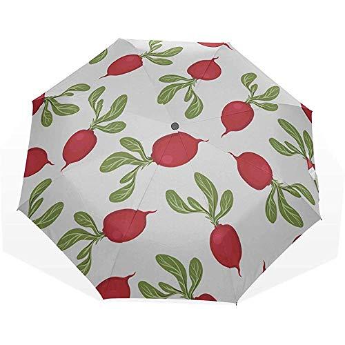Ombrello pieghevole da viaggio bellissimo ravanello rosa vario 3 ombrelli artistici pieghevoli ombrello da viaggio ombrello da pioggia s ombrello da viaggio