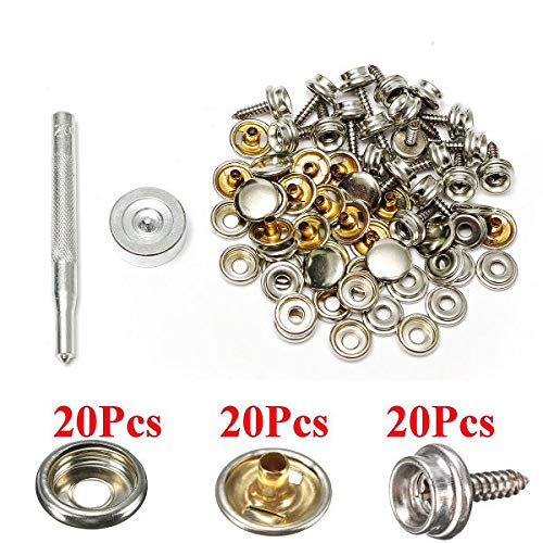 Boat Parts & Accessories 75pcs 25 Sets 15mm Snap Fastener Button Screw Studs Kit For Boat Cover Tent Kit Traveling