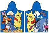 Disney Winnie the Pooh Bath Poncho Towel for Children, 100 % Cotton, blue, 50x100cm