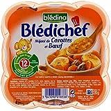 Blédina Chef De Compote De Carottes Et Boeuf (12 Mois) 230G - Paquet de 4