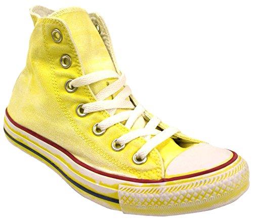 CONVERSE Unisex Turnschuhe hohe 1C16SP10 ALL STAR HALLO CANVAS LTD Neon Yellow