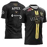 73HA73 T-Shirts à Manches E-Sports pour Hommes ECS S7 CSGO Vitality Esports Zywoo Apex Uniform des Sweats Confortables et Respirants,Apex,S(158-165cm)