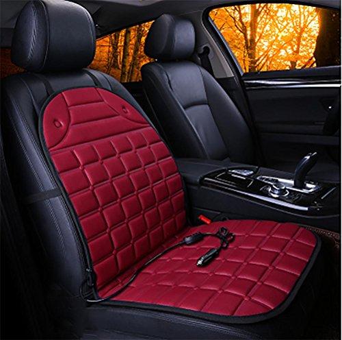 Lkw-beheizbare Sitzauflage (DIELIAN Beheizbare Sitzauflage mit Premium Stecker für Zigarettenanzünderdose für PKW, LKW, Kraftfahrzeuge mit 12V Anschluss , Red)