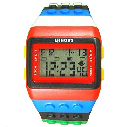 HWCOO Relojes SHHORS estudiante de la escuela media reloj reloj multifuncional arco iris electrónico...
