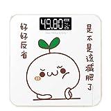 JTHKX USB Charge Wiegen Elektronische Waage Waage Haushalt Kind Präzise Body Scale Badwaage Gewichtsverlust Gewicht Messung, Voll von 26 * 26 - Batterie Geld