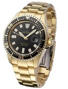 DETOMASO Herren-Armbanduhr San Remo Professional Gold Analog Automatik DT1025-C