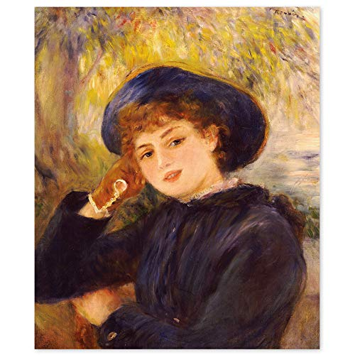 JUNIWORDS Poster, Pierre Auguste Renoir, Mademoiselle Demarsy, 30 x 36 cm