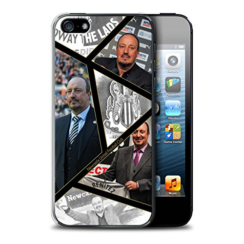 Offiziell Newcastle United FC Hülle / Case für Apple iPhone 5/5S / Pack 8pcs Muster / NUFC Rafa Benítez Kollektion Montage