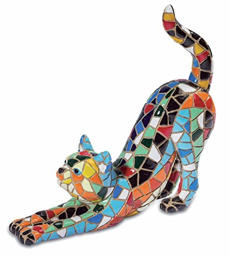 Mosaic Effect Cat Ornament Figurine Cats Lovers Ideal Gift