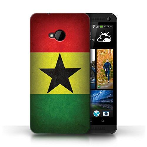 Coque en plastique pour HTC One/1 M7 Collection Drapeau - Irlande/irlandais Ghana