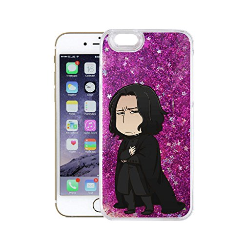 finoo | Iphone 6 Plus / 6S Plus Flüssige Liquid Lilane Glitzer Bling Bling Handy-Hülle | Rundum Silikon Schutz-hülle + Muster | Weicher TPU Bumper Case Cover | Draco Malfoy Anime transparent Snape Anime transparent