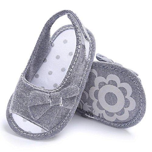 Clode® Kleinkind Baby weiche alleinige Bowknot Schuhe Krippe Prewalker Schuhe Grey