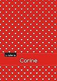 Le cahier de Carine - Blanc, 96p, A5 - Petits c urs