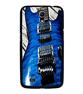 Fuson Premium 2D Back Case Cover BLUE STYLISH GUITAR With Others Background Degined For Samsung Galaxy Mega 6.3 i9200::Samsung Galaxy Mega 6.3 i91200