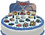Vorgeschnittene und Essbare Disney Pixar Cars Szene Kuchen Topper (Tortenaufleger, Bedruckte Oblaten, Oblatenaufleger)