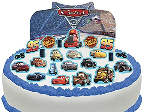 Cakeshop Vorgeschnittene und Essbare Disney Pixar Cars Szene Kuchen Topper (Tortenaufleger, Bedruckte Oblaten,