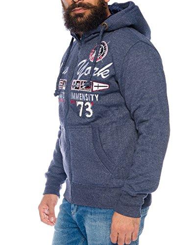 Raff & Taff Hoodie Übergrößen 6XL Kapuzenjacke Kapuzenpullover Übergangsjacke New york Dunkelblau