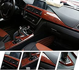 TOTAL HOME Wood Grain Series Waterproof Vinyl Film Stickers Car Body, 24x46 inches (Multicolour, 1234)