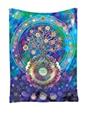 Indian Tapisserie Wandbehang Wandteppiche,Goldbeing Mandala Tuch Wandtuch Gobelin Tapestry Baum des Lebens mit floralem Stil  als Dekotuch /Tagesdecke