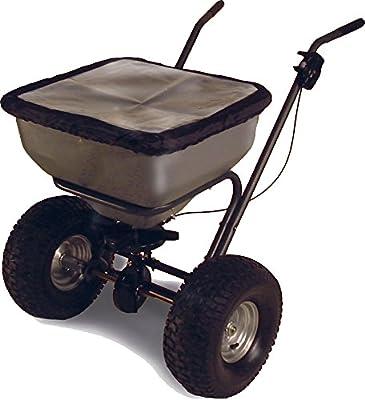 Streuwagen 60 kg Premium | Multifunktioneller Universalstreuer für Saatgut, Dünger und Streusalz | Zentrifugalstreuer mit 25 kg Fassungsvermögen und 2,5 bis 3 m Streubreite