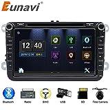 Auto Stereo mit Bluetooth, Eunavi Doppel 2 Din 8 Zoll Auto GPS Navigation In Dash Radio DVD-Player Touch Screen Hauptgerät für VW Passat t5 Golf MK5 Jetta + Free Rückfahrkamera