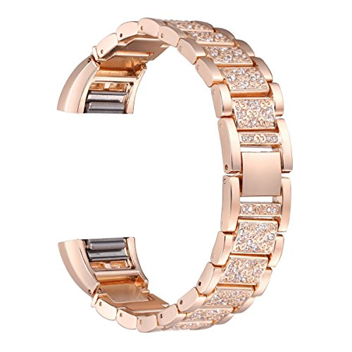 bayite-replacement-metal-straps-with-rhinestone-for-fitbit-charge-2-rose-gold