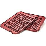 Cocina Maestro placas para accesorios para Cuisinart Griddler–antiadherente, apta para lavavajillas, posiciones de lugar, rojo, hecho para gr-4N y grid-8N serie